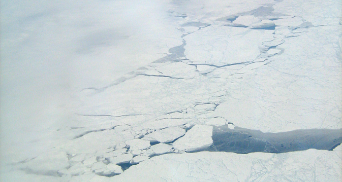 Cracks in Arctic sea