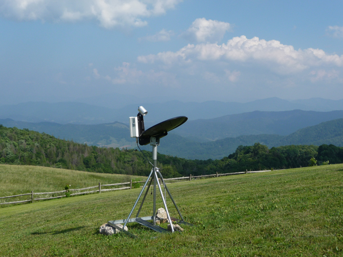 MicroRain Radar at Purchase Knob in the Great Smoky Mountains National Park.