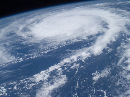 ISS photo of Hurricane Frances