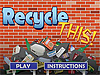 Splash page of Recycle This game