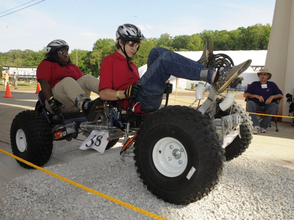 Student teams compete in the 2012 Great Moonbuggy Race.