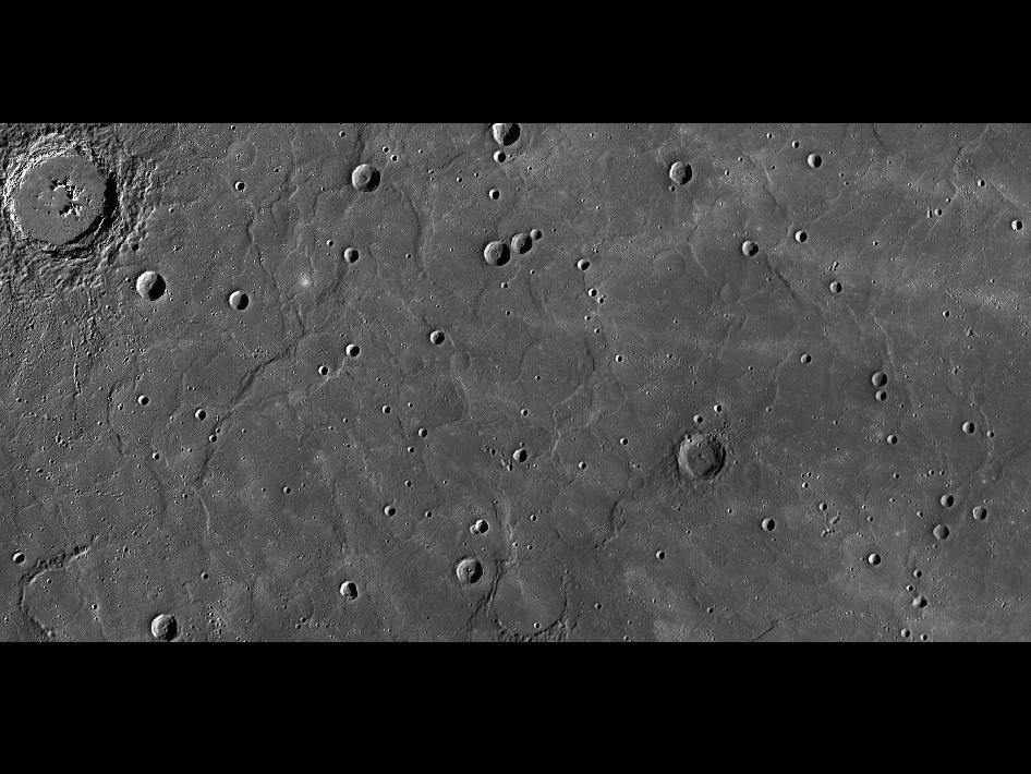 Image from Orbit of Mercury: Old and Wrinkly