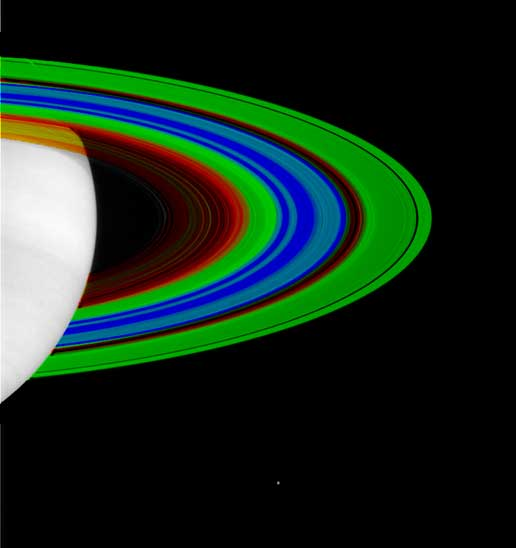 temperature image of Saturn