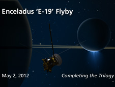 Enceladus 'E-19' flyby. May 2, 2012 Completing the trilogy