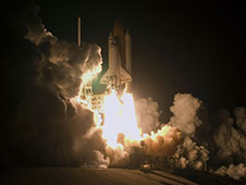 Space shuttle Endeavour launches
