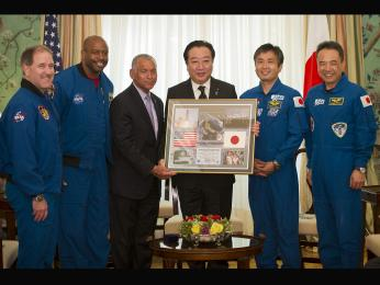 NASA Administrator Meets With Japanese Prime Minister