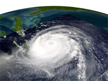 Satellite image of Hurricane Frances