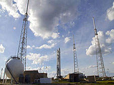 The SpaceX Falcon 9 and Dragon spacecraft.