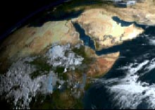 Thunderstorms flowing off Western Africa