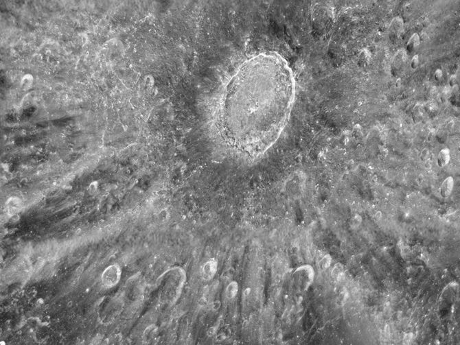 This mottled landscape showing the impact crater Tycho is among the most violent-looking places on our Moon.