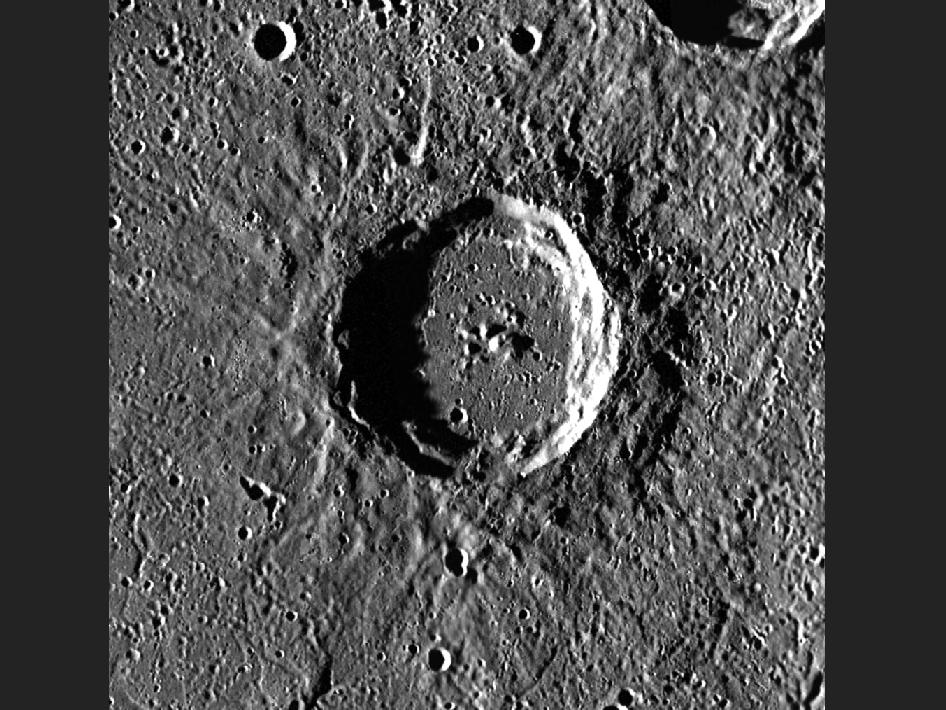 Image from Orbit of Mercury: $120 Million Buys an Awful Lot of Crater