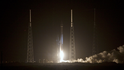A successful liftoff for the Atlas V carrying NASA's Van Allen Probes spacecraft