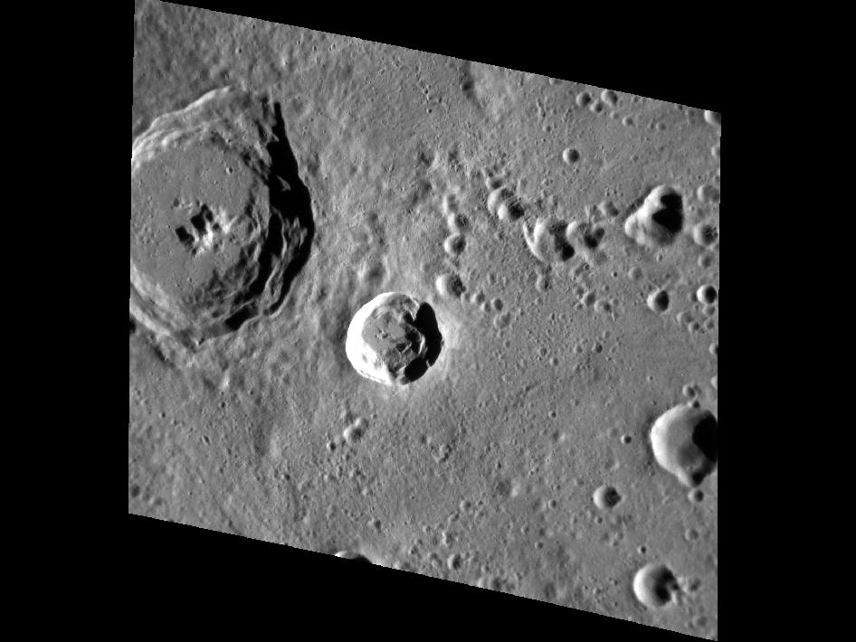 Image from Orbit of Mercury: Nureyev Crater