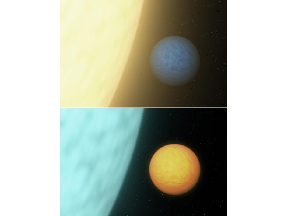 Artist's concept of two Super Earths