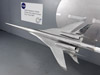 Tests of scale models like this one in a supersonic wind tunnel at NASA's Ames Research Center help researchers understand the forces acting on the aircraft that create sonic booms.
