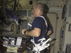astronaut exercising