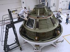 The Orion spacecraft test article