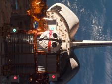 The AERCam Sprint in Columbia's payload bay