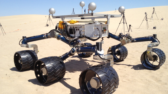 Test rover aids preparations in California