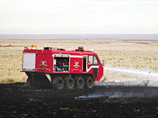 L3 vehicle demonstrates fire suppression technology