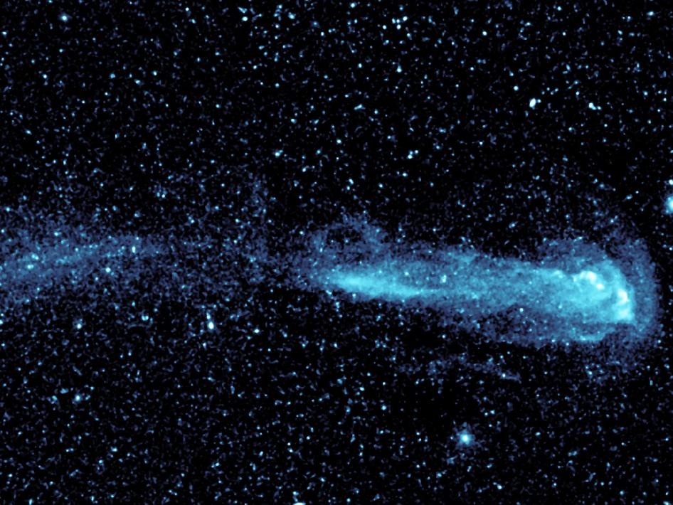 A star with a comet-like tail