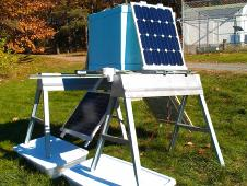 A BARREL payload complete with solar panels sits in the sun for a full system-test.