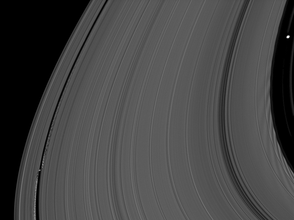Saturn's moons Daphnis and Pan