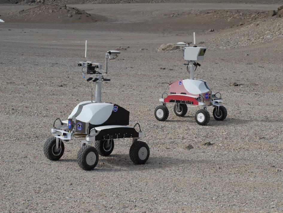 "K10 ""Black"" and ""Red"" planetary rovers are equipped with a variety of science instruments."