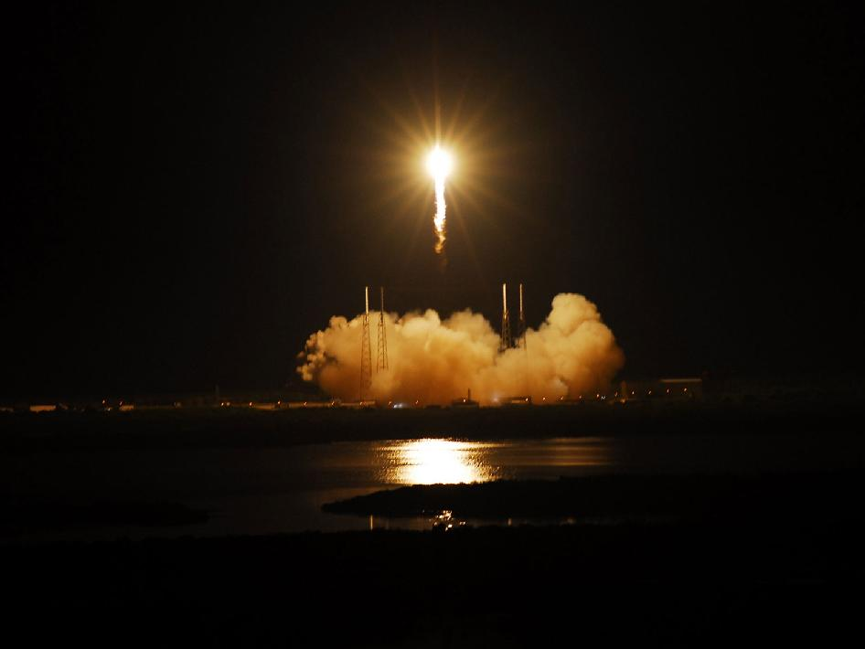 NASA - SpaceX Falcon 9 Lifts Off
