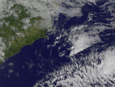 visible image of tropical depression Alberto
