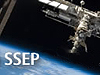 The letters SSEP beside the space station
