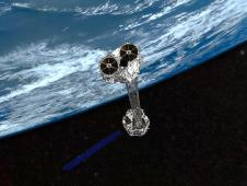Artist's concept showing NASA's NuSTAR mission orbiting Earth