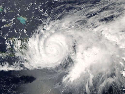 Tropical Storm Jeanne from NASA's Aqua satellite