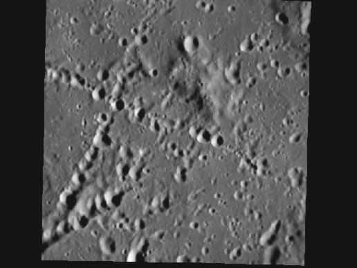 Image from Orbit of Mercury: The Land of Crater Chains
