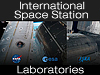 The words International Space Station over image of space station modules