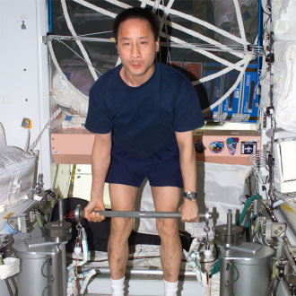 Astronaut Edward T. Lu, Expedition 7 NASA ISS Science Officer and Flight Engineer.
