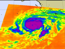 AIRS image of Hurricane Bud from May 23, 2012