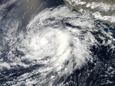 MODIS image of Hurricane Bud from May 23, 2012