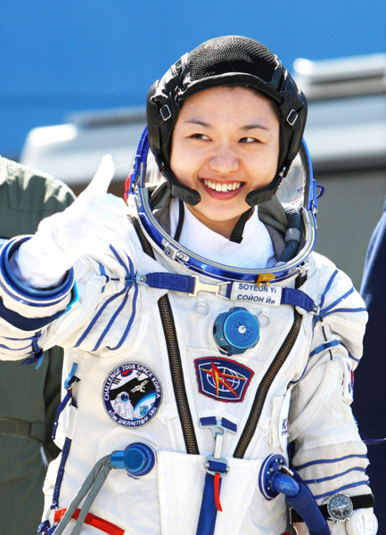 Dr.Soyeon Yi before launching to the ISS in 2008