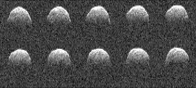 series of radar images of asteroid 1999 RQ36