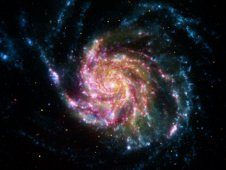 Composite of M101, the Pinwheel Galaxy