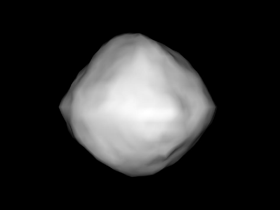 Computer generated image of asteroid 1999 RQ36