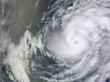 This visible image of Hurricane Bud was taken by the MODIS instrument on NASA's Terra satellite on May 24, 2012 at 18:15 UTC (2:15 p.m. EDT/U.S.).