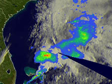 satellite image of system 94L derived from satellite data