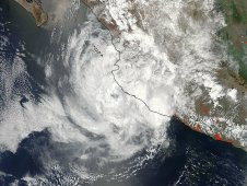 This image of Hurricane Bud was taken from the MODIS instrument onboard NASA's Aqua satellite on May 25, 2012