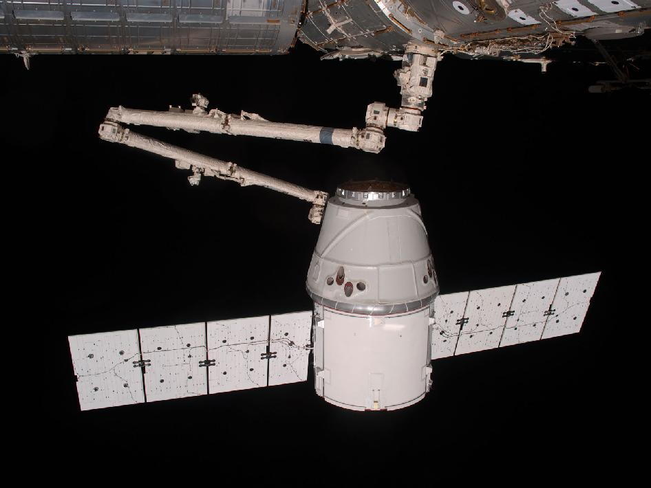 Canadarm2 and Dragon