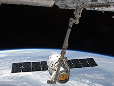 SpaceX Dragon on orbit
