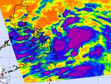On May 31, AIRS showed low-level circulation center is consolidating.