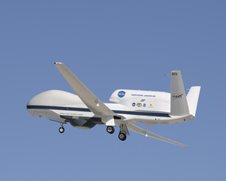 Global Hawk drone against a blue sky