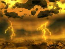 Artist concept of lightning on Venus